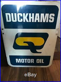 Vintage Original 1970, s Duckhams Motor Oil Metal Sign