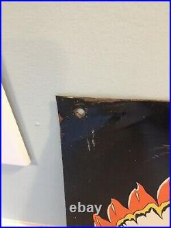 Vintage Original Chief Paints Tin/Metal Sign 28x12 Chicago 50's Hardware Store