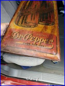 Vintage Original Dr Pepper Metal Sign Fresh Barn Find Good For Your Health