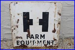 Vintage Original International Harvester Farm Equipment Metal Double Side Sign