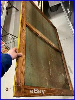 Vintage Original John Deere Dealer Metal Sign FARM FEED SEED GAS OIL COLA