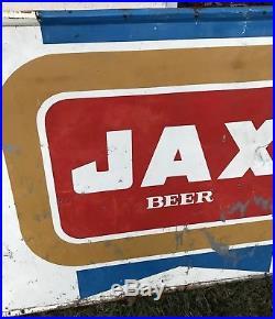 Vintage Original Large JAX BEER Metal Sign New Orleans Gas Rare Advertising