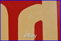 Vintage Original Metal Hood Dairy Milk Sign 1950's / 1960's