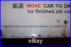 Vintage Original Metal Jenny 25 Cent Car Wash Sign, Very Rare to find Sign
