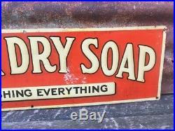 Vintage Original Metal Sign Borax Soap Antique Washing Laundry Decor 7x24 Inch