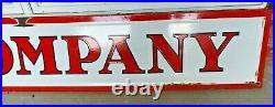 Vintage Original Skelly Oil Co Metal Framed 9 ft Porcelain Sign Good Condition