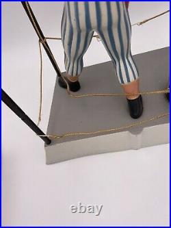 Vintage Pabst Blue Ribbon Beer Boxer Cast Aluminum Statue Sign 1950s