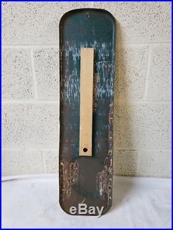 Vintage Pepsi Cola Embossed Metal Thermometer