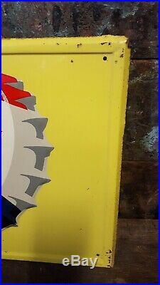 Vintage Pepsi Cola Soda Pop Gas Station 31 Embossed Metal Sign Bottle Cap