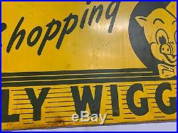 Vintage Piggly Wiggly Grocery Store Metal Sign GAS STATION SODA COLA OIL 48