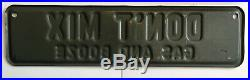 Vintage Prohibition License Plate Topper Metal Sign Dont Mix Gas And Booze
