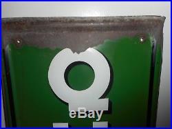 Vintage QUAKER STATE GAS STATION Motor OIL Metal VERTICAL ADVERTISING SIGN