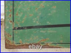 Vintage Quaker State 1950 Large Metal Embossed Sign