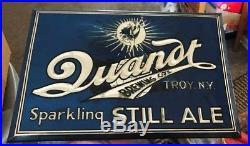 Vintage Quandt Ale Metal Toc Tin Over Cardboard Beer Sign Quandt Brewing Troy Ny