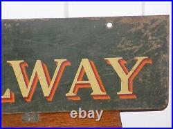 Vintage Railway Express Hanging Metal Sign