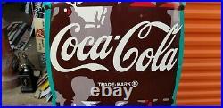 Vintage Rare 1940s 6 Foot Coca Cola Bottle Metal Sign