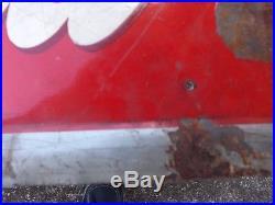 Vintage Rare Coca-Cola Coke 1940 Metal Carton Sign GAS OIL SODA Hard to Find