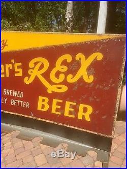 Vintage Rare Fitgers Beer Metal Tobacco Dispenser Display Sign Duluth MN