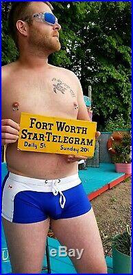 Vintage Rare Fort Worth Texas Star Telegram News Paper Advert Metal Sign 12X6