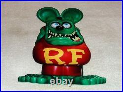 Vintage Ratfink Die-cut Rat Speed Shop 12 Metal Gasoline & Oil Sign Gas! Fink
