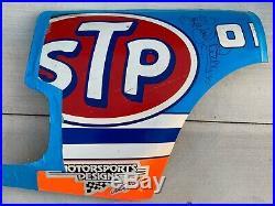 Vintage Richard Petty Signed Autographed 1991 STP Rear Quarter Sheet Metal