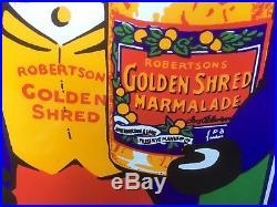 Vintage Robertsons Golden Shred Marmalade Metal Enamel Advertising Sign Golli