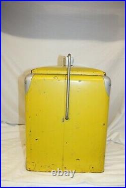 Vintage Royal Crown Cola Metal Yellow Cooler
