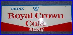 Vintage Royal Crown Cola Soda Advertising Metal Embossed sign