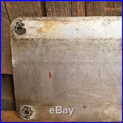 Vintage STATE POLICE Metal Red Front License Plate Metal Sign Connecticut Maine