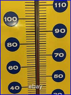 Vintage Say Pepsi Please Metal Thermometer Sign