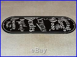 Vintage Schwinn Bicycles Best In The World 11 Porcelain Metal Gasoline Oil Sign