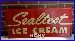 Vintage Sealtest Ice Cream Metal Sign