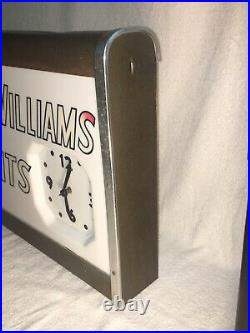 Vintage Sherwin Williams Cover The Earth lighted clock Telesign Inc metal 24