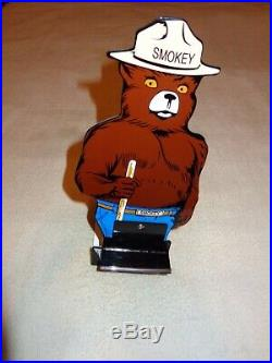 Vintage Smokey The Bear Forest Fire Prevention 12 Metal Gasoline & Oil Sign! Us