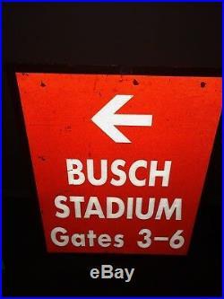 Vintage St. Louis Cardinals Busch Stadium II SIGN Gates 3-6 Heavy Metal 1 Sided