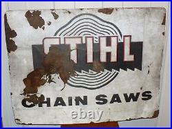 Vintage Stihl Chain Saws Metal Sign