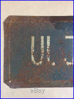 Vintage Street Sign Juri Gagarin's Road Made in Poland Industrial Signage