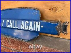Vintage Sunbeam Bread Thanks Call Again Metal Door Push Sign