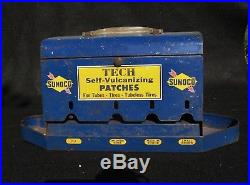 Vintage Sunoco Self Vulcanizing Patches Metal Advertising Display Sign