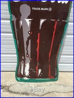 Vintage Super Rare! 1950s Huge! 9 Feet Tall Coca Cola Bottle Metal Sign