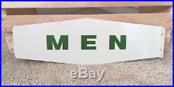 Vintage Texaco Ladies Men Restroom Bathroom Flange Metal Signs Gas Station Oil