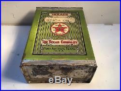 Vintage Texaco Spica NOS FULL Metal gas rare sign tin handy oil Can Sunoco Shell