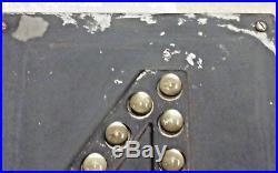 Vintage Tracks 4 Railroad Track Sign Marbles Reflectors Metal
