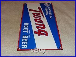Vintage Twang Vitamin Root Beer 11 Porcelain Metal Soda Pop Gasoline Oil Sign