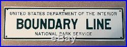 Vintage US Forest Service Metal Sign Dept. Of The Interior