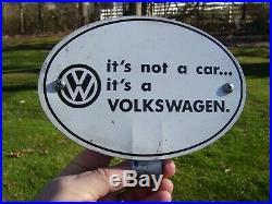 Vintage VW Volkswagen license plate topper beetle bug original auto not a car