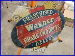 Vintage WAGNER brakes Painted Metal Sign 1930's-40's | Vintage Metal