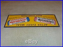 Vintage Wrigley's Spearmint & Doublemint Gum 15 Porcelain Metal Candy Gas Sign