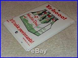 Vintage Ya-hooo Mountain Dew +hillbilly 7 Porcelain Metal Soda Pop Gas Oil Sign