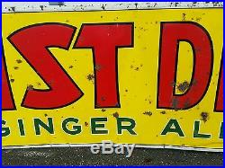 Vintage advertising kist dry ginger ale metal sign display soda